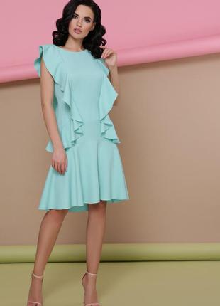 Платье мятное.