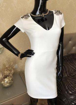 Платье zara, молочное, размер 44