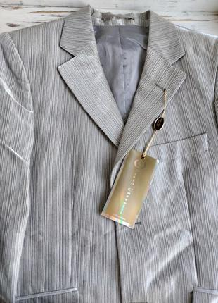 Пиджак мужской серый  блестящий 44 размера