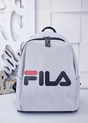 Белый рюкзак fila