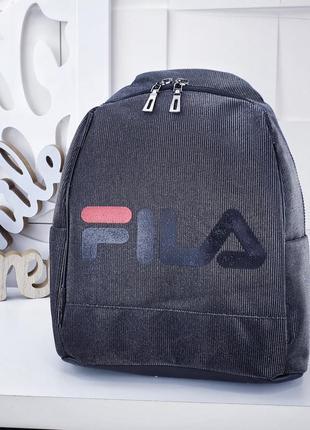 Черный рюкзак fila