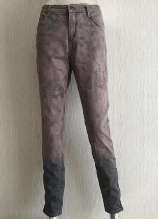 Брюки джинсы лосины омбре боковые молнии внизу yaya