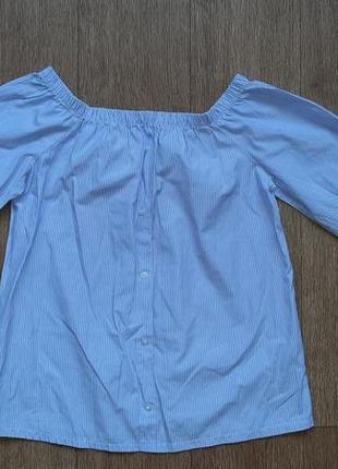 Блузка-рубашка с открытыми плечами