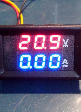 Вольтметр амперметр 100V 10A