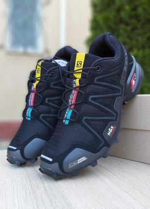Кроссовки salomon speedcross 3 чёрные  🌶