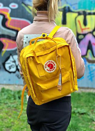 Рюкзак fjallraven kanken yellow купить фьялравен канкен желтый