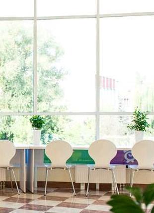 Радиусный стол белый