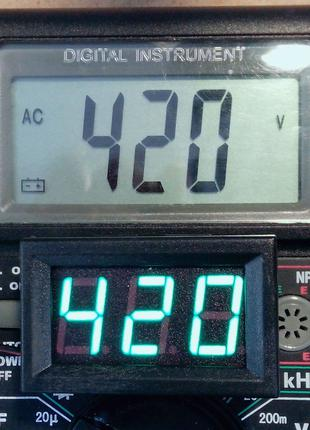 Вольтметр цифровой АС 70-500В