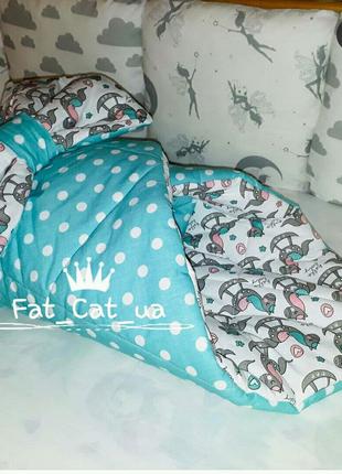 Конверт на выписку пледик одеялко