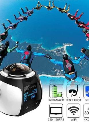 Экшн-камера PanoView WI-FI с Панорамной сьемкой