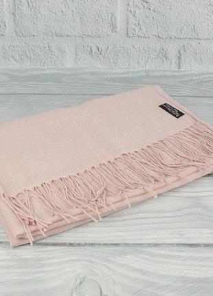 Кашемировый шарф, палантин пудровый