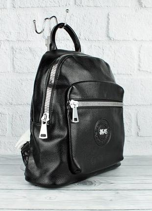 Рюкзак черный кожзам velina fabbiano