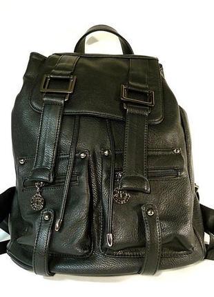 Рюкзак кожзам женский черный