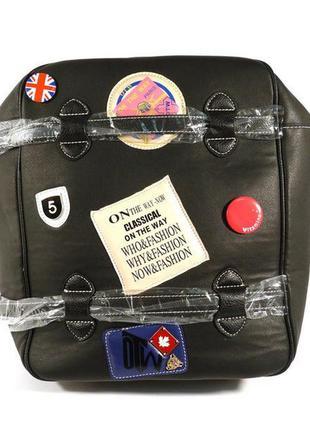 Рюкзак-сумка кожзам черный valensiy