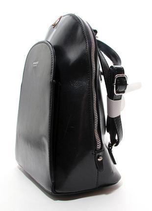 Рюкзак-сумка женский кожзам черный