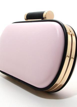 Клатч-бокс сумочка женская розовая