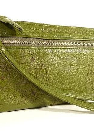 Клатч - кошелек женский натуральная кожа зеленый
