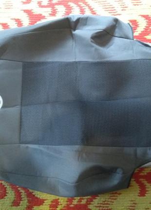 Чехлы на сидения volkswagen polo sedan сплошная задняя спинка