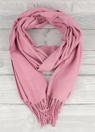 Кашемировый шарф, палантин лиловый