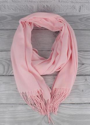 Кашемировый шарф, палантин розовый
