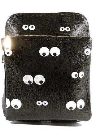 Рюкзак малый кожзам молодежный черный