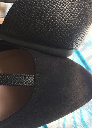 Туфли балетки лодочки с острым носком носом без каблука низкий