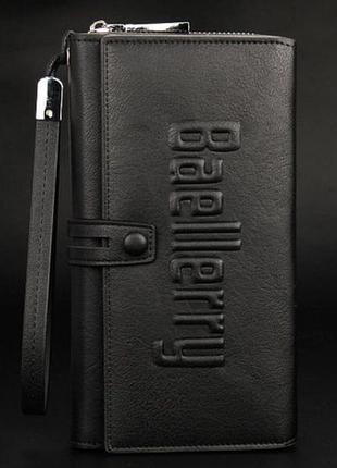 Baellerry guero - мужское бизнес портмоне, клатч ( черный )