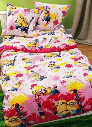 Детский комплект постельного белья миньоны