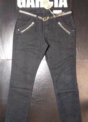 Джинсы брюки женские garcia skinny черные жіночі чорні 30 32
