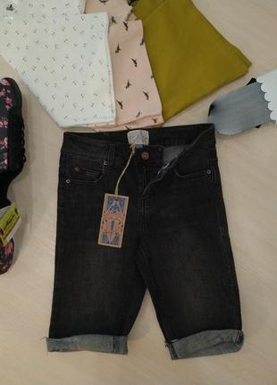 Стильные  женские темно-серые джинсовые шорты carlings