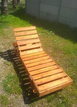 Шезлонг - лежак деревянный