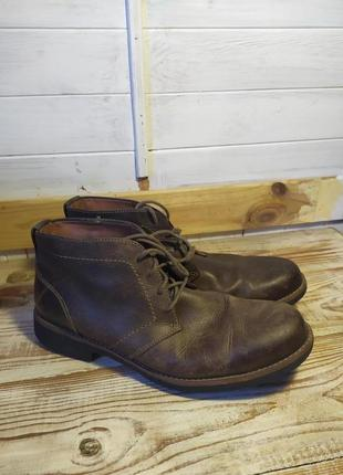 Классные кожаные мужские ботинки  29 см