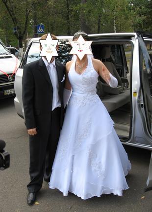 Плаття весільне Розмір регулюється 46-48 Біле Ідеальний