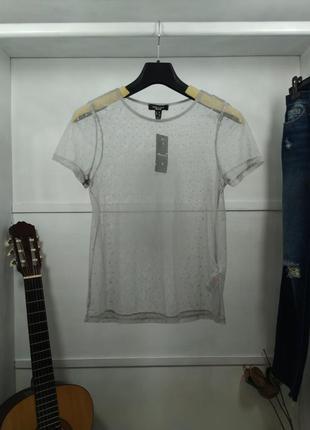 Блузка сетка с коротким рукавом