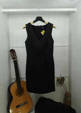 Платье футляр черное классическое kiabi
