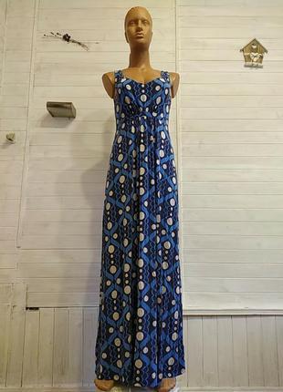 Платье длинное летнее из вискозы