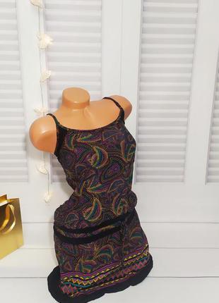 Платье, сарафан, туника летняя принт, s/m