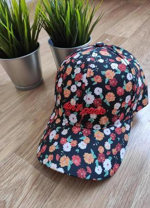 Кепка принт цветочек / летняя кепка женская новая