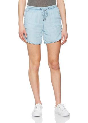 Тонкие летние джинсовые голубые короткие шорты Garcia