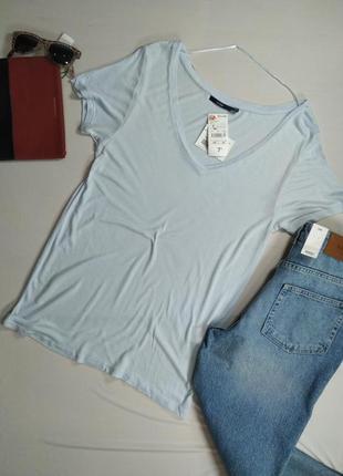 Голубая базовая футболка Kiabi