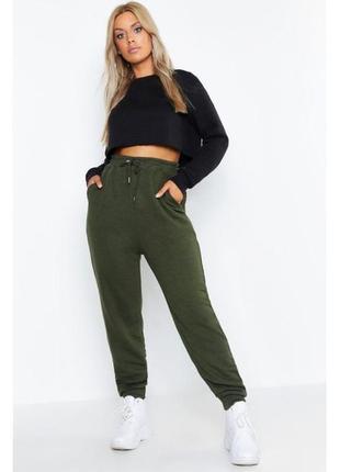 Спортивные брюки джоггеры штаны хаки Boohoo