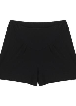 Тонкие легкие черные трикотажные шорты юбка большой размер