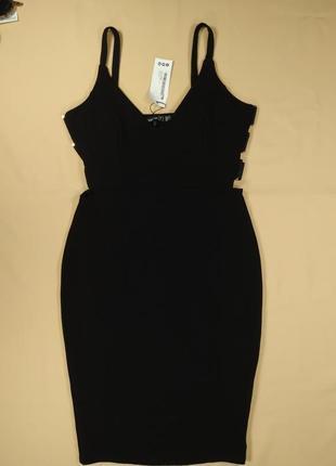 Платье черное миди футляр Boohoo