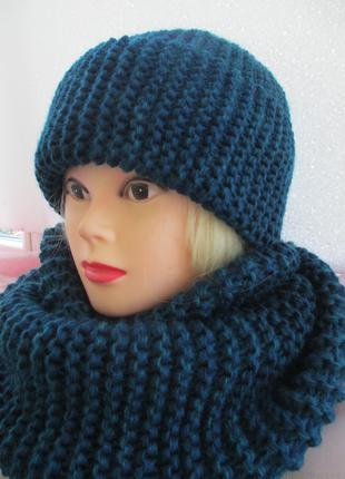 Зимний комплект шапка и шарф-хомут