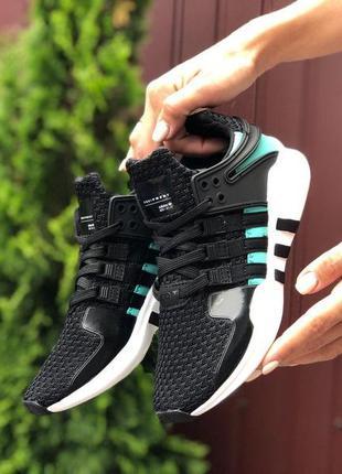 Женские кроссовки 🔺 adidas equipment 🔺wihte&black (green)