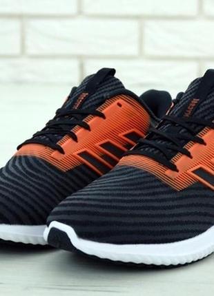 Мужские летние кроссовки adidas climacool black orange.