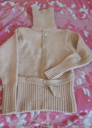 Розовый свитер с люрексом