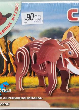 Сборная деревянная модель Слон