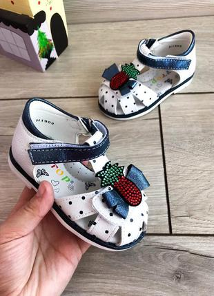 ❤ белые босоножки сандалии для девочки ❤