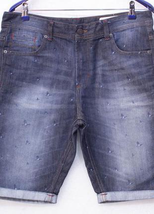 Denim co w34  (l) джинсовые мужские шорты состояние отличное
